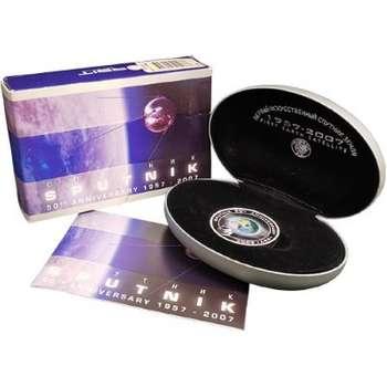 1 oz 2007 Sputnik 50th Anniversary Silver Orbital Proof Coin