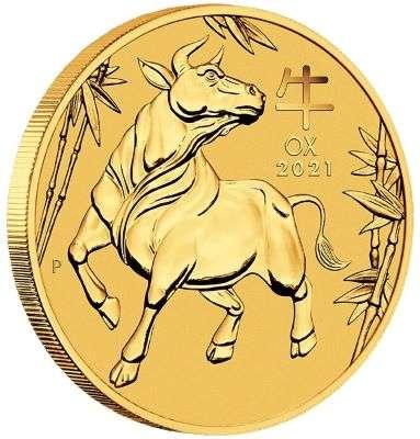 1/10 oz 2021 Australian Lunar Year of the Ox Gold Bullion Coin