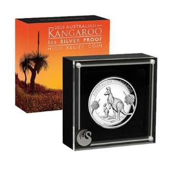 5 oz 2020 Australian Kangaroo Silver Proof High Relief Coin