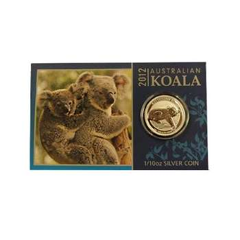 1/10 oz 2012 Australian Koala Silver Coin