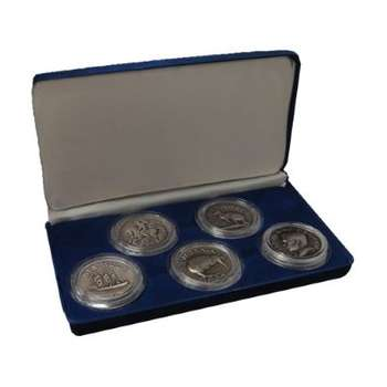 1936 Edward VIII Commonwealth Five Crowns Collection Cupro Nickel