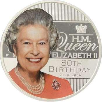 1 oz 2006 H.M Queen Elizabeth II 80th Birthday Silver Proof Coin