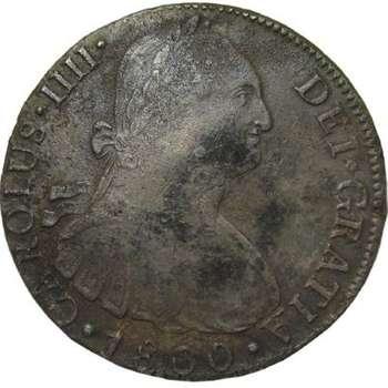 1800 Peru Carlous IV 8 Reales/Bust Dollar Silver Coin