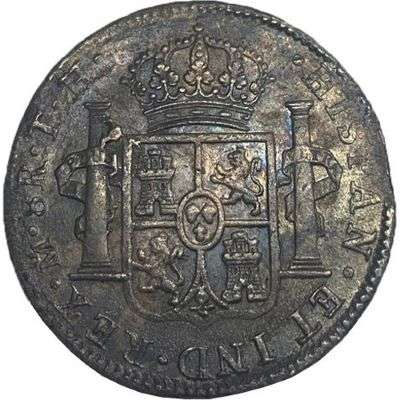 1806 Mexico Carolus IV 8 Reales/Bust Dollar Silver Coin
