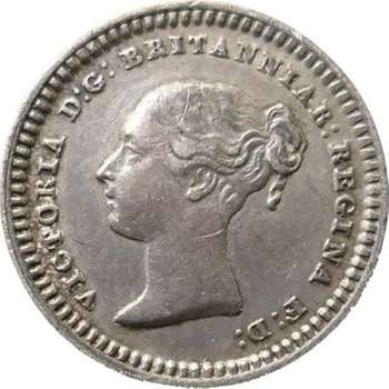1843 Great Britain Queen Victoria Maundy 1 1/2 Pence Silver Coin