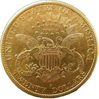 1891 S USA Liberty Head Twenty Dollars Gold Coin
