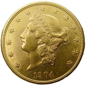 1904 USA Liberty Head Twenty Dollars Gold Coin