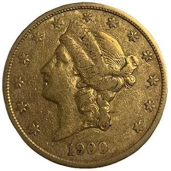 1900 S USA Liberty Head Twenty Dollars Gold Coin