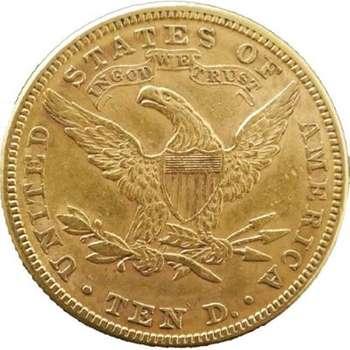 1882 USA Liberty Head Ten Dollars Gold Coin