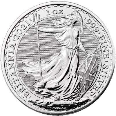 1 oz 2021 Great Britain Britannia Silver Bullion Coin -500 oz  Monster Box