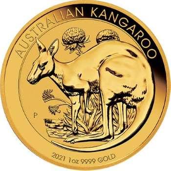 1 oz 2021 Australia Kangaroo Gold Bullion Coin