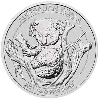 1 kg 2021 Australia Koala Silver Bullion Coin