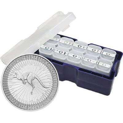 1 oz 2021 Australian Kangaroo Silver Bullion Coin - 250 oz Monster Box