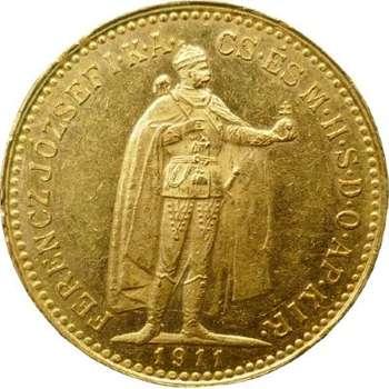 1911 KB Hungary Franz Joseph I 10 Korona Gold Coin