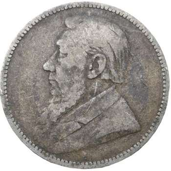 1894 South Africa 1 Shilling Silver Coin