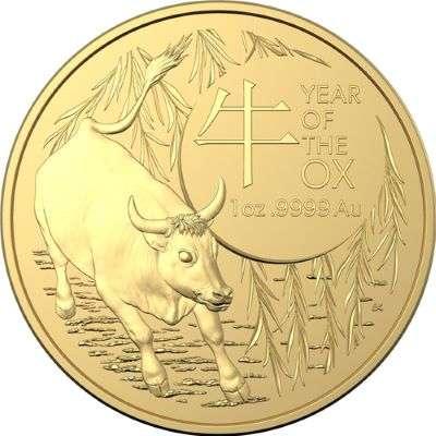 1 oz 2021 Australian RAM Year Of The Ox Gold Bullion Coin