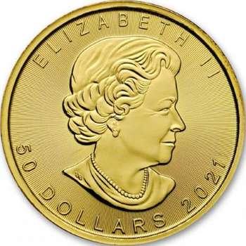 1 oz 2021 Canadian Maple Leaf Gold Bullion Coin