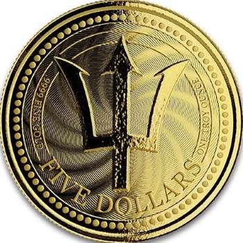 1 oz 2019 Barbados Trident Gold Bullion Coin