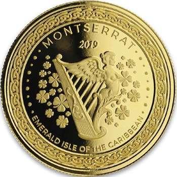 1 oz 2019 Monteserrat Emerald Isle Of The Caribbean Gold Bullion Coin