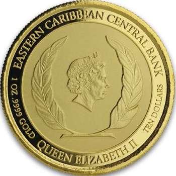 1 oz 2020 Antigua & Barbuda Rum Runner Gold Bullion Coin