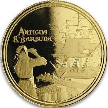 1 oz 2019 Antigua & Barbuda Rum Runner Gold Bullion Coin