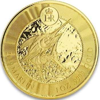 1 oz 2019 Cayman Islands Marlin Gold Bullion Coin
