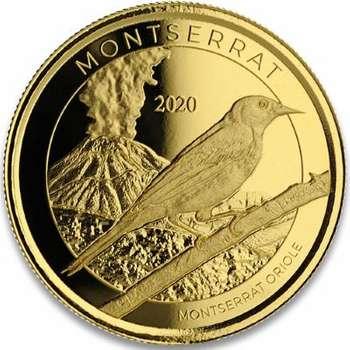 1 oz 2020 Monteserrat Oriole Gold Bullion Coin