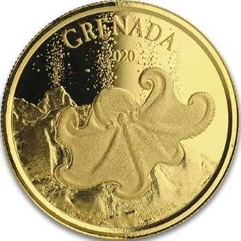 1 oz 2020 Grenada Octopus Gold Bullion Coin