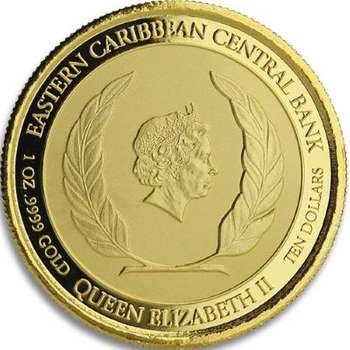 1 oz 2020 Dominica Hummingbird Gold Bullion Coin