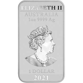 1 oz 2021 Australian Dragon Rectangular Silver Bullion Coin