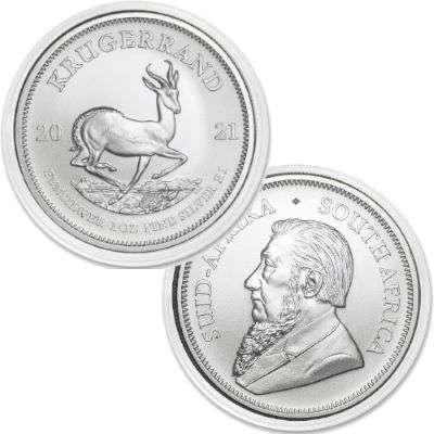 1 oz 2021 South Africa Krugerrand Silver Bullion Coin - 500 oz Monster Box