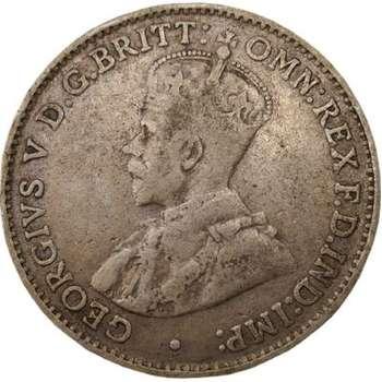 1923 Australia King George V Threepence Silver Coin