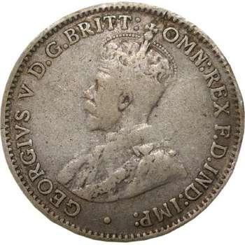 1916 Australia King George V Threepence Silver Coin