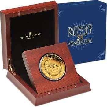 5 oz 2021 Australia Kangaroo 35th Anniversary Gold Proof Coin