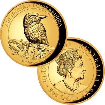 5 oz 2021 Australia Kookaburra Gold High Relief Proof Coin