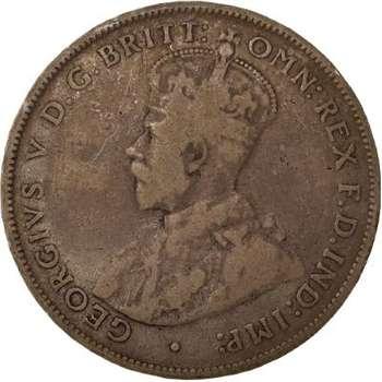 1915 H Australia King George V Florin Silver Coin