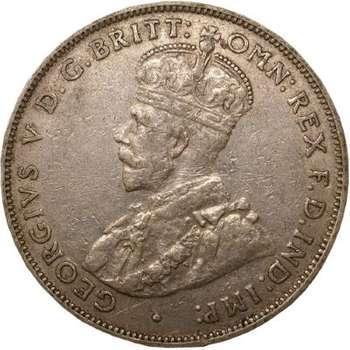 1927 Australia King George V Florin Silver Coin