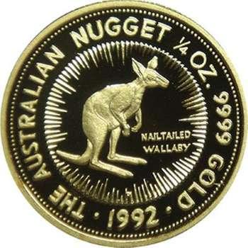 1/4 oz 1992 The Australian Kangaroo Gold Bullion Coin (Proof Strike with Nail-tailed Wallaby)