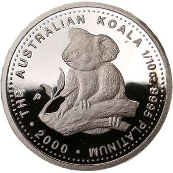 1/10 oz 2000 Australian Koala Platinum Bullion Coin (Proof Strike)