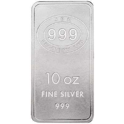 10 oz JBR Icons of Britain Silver Bullion Bar - 500 oz Master Box