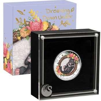 1/2 oz 2021 Australian Dreaming Down Under Tasmanian Devil Silver Proof Coloured Coin