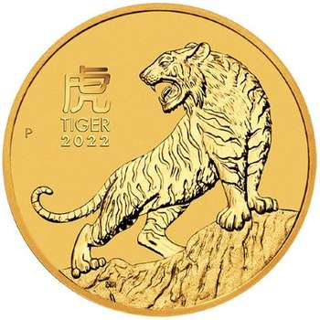 1 oz 2022 Year Of The Tiger Gold Bullion Coin