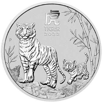 1 oz 2022 Australian Year Of The Tiger Silver Bullion Coin