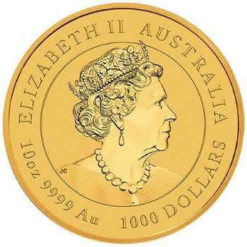 10 oz 2022 Australian Year Of The Tiger Gold Bullion Coin