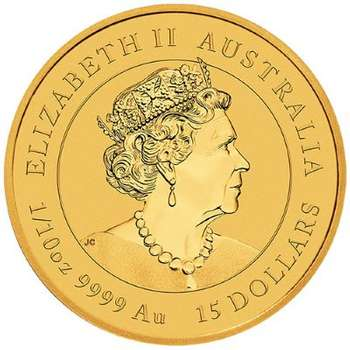 1/10 oz 2022  Australian Year Of The Tiger Gold Bullion Coin