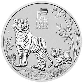 1/2 oz 2022 Australian Year Of The Tiger Silver Bullion Coin