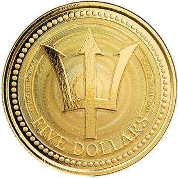 1 oz 2021 Barbados Trident Gold Bullion Coin