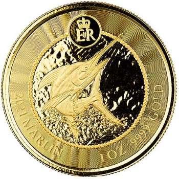 1 oz 2021 Cayman Islands Marlin Gold Bullion Coin