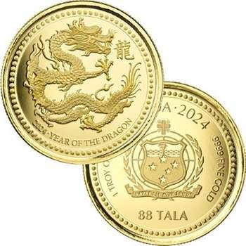 1 oz 2024 Samoa Year Of The Dragon Gold Bullion Coin