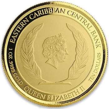 1 oz 2018 EC8 Anguilla Lobster Bullion Gold Coin